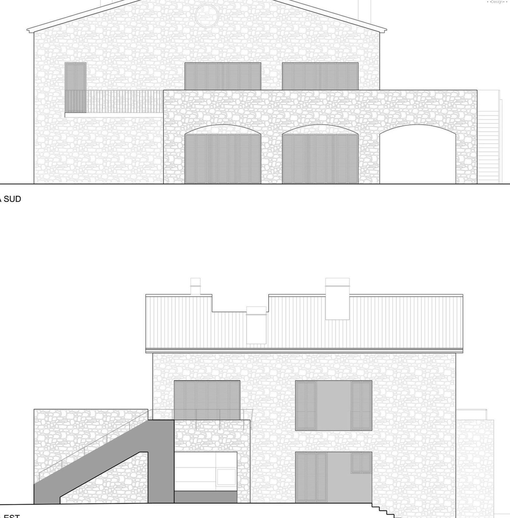 Project of a two-story house