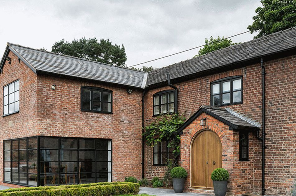 Brick house with an elegant design