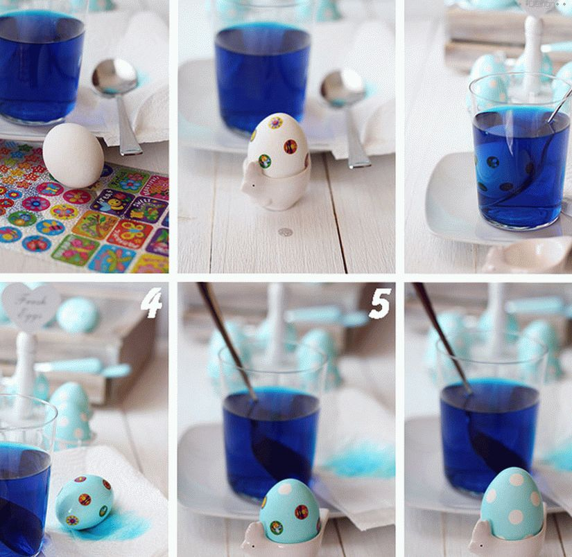 how to paint eggs