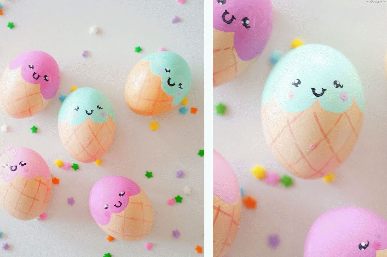 decoration of easter eggs