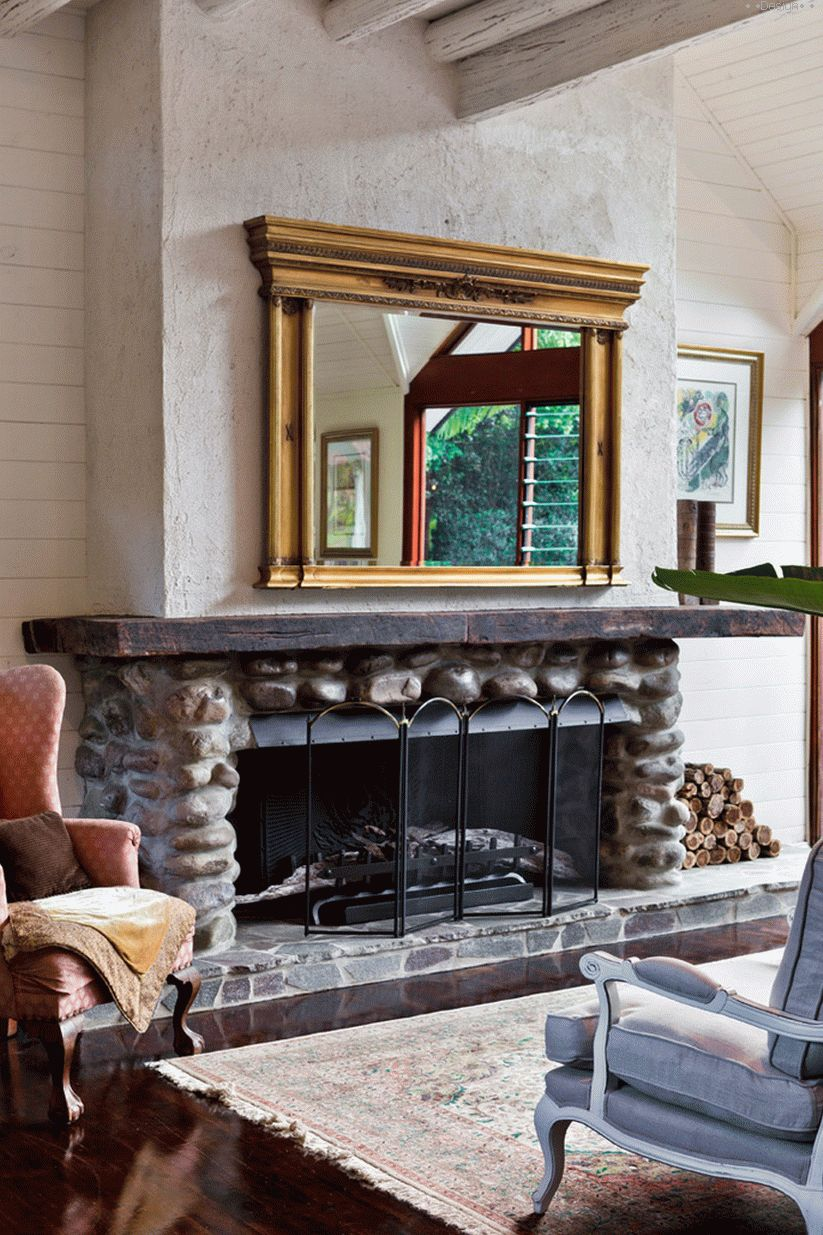 fireplace in the house photo