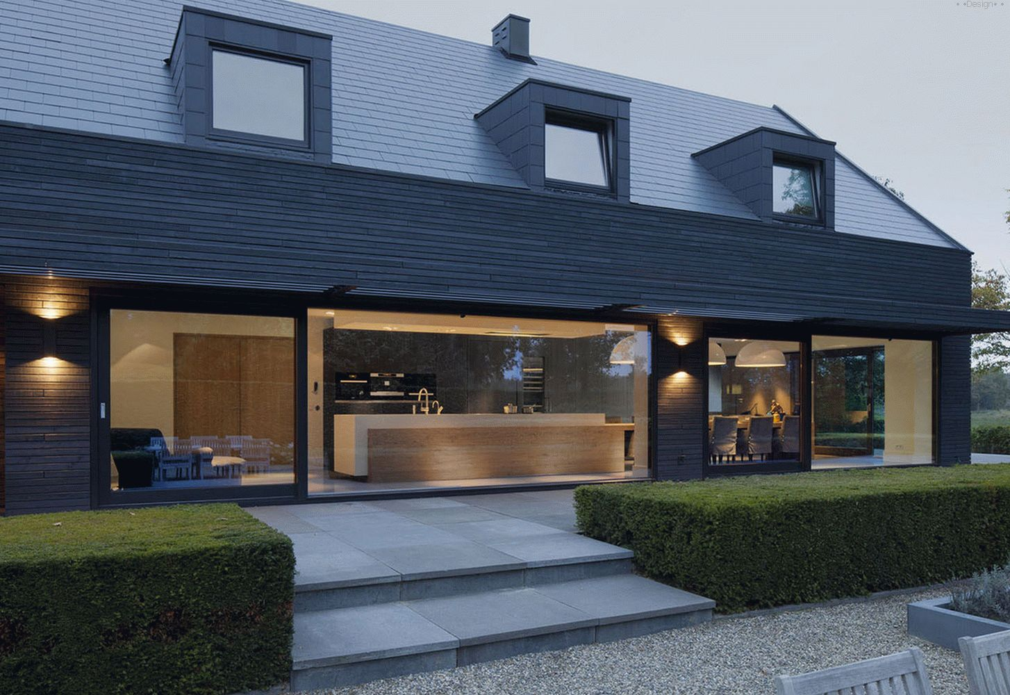 Stylish black house from Holland